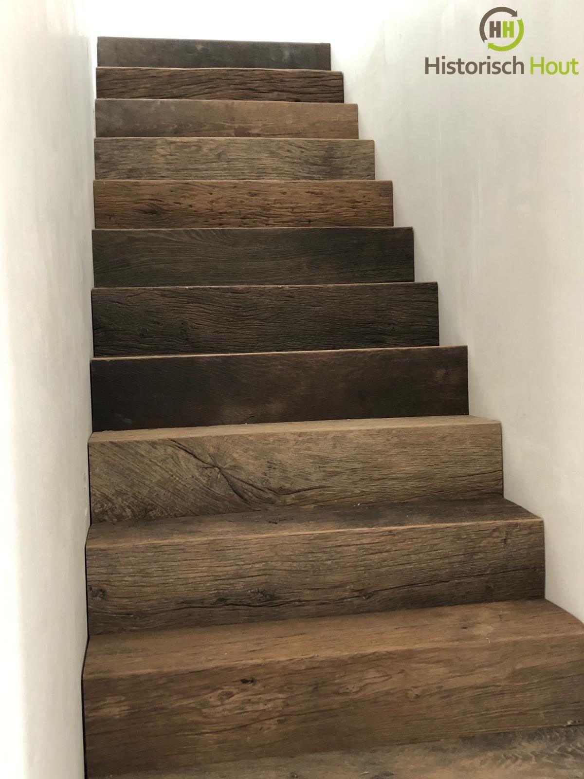 Prachtige oud eiken trap!