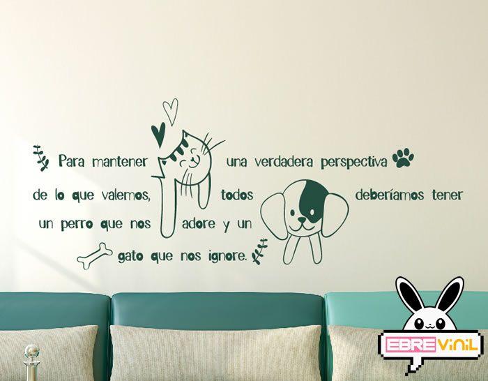 Vinilo decorativos de texto sobre mascotas vinilos y adhesivos con textos frases y palabras - Vinilos decorativos textos ...
