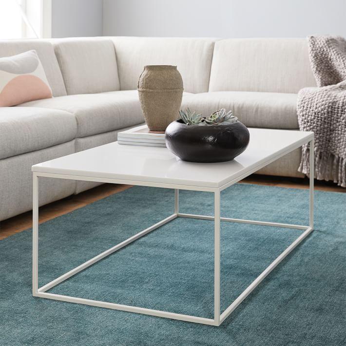 Streamline Coffee Table White Quartz Table Modern Coffee