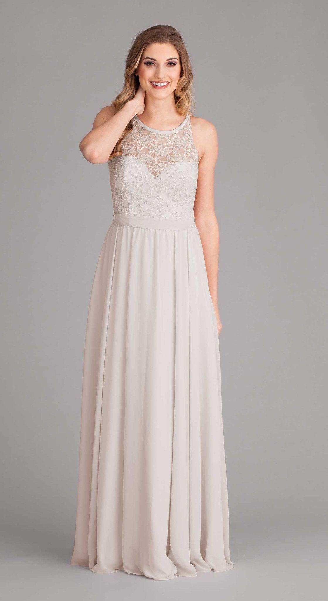 Mint|Delilah Lace Top Bridesmaid Dress