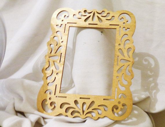 Gold Open Back Ornate Frames 8.5x11 fits 5x7 Gold metallic gallery ...