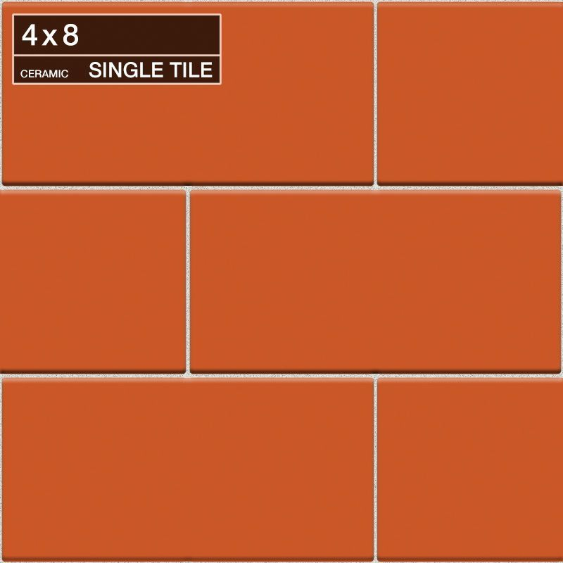 "Daltile QH71-481P Natural Hues Mango 8"" x 4"" Flat Ceramic Multi-Surface Tile (Sp Mango Tile Multi-Surface Tile Field Tile"