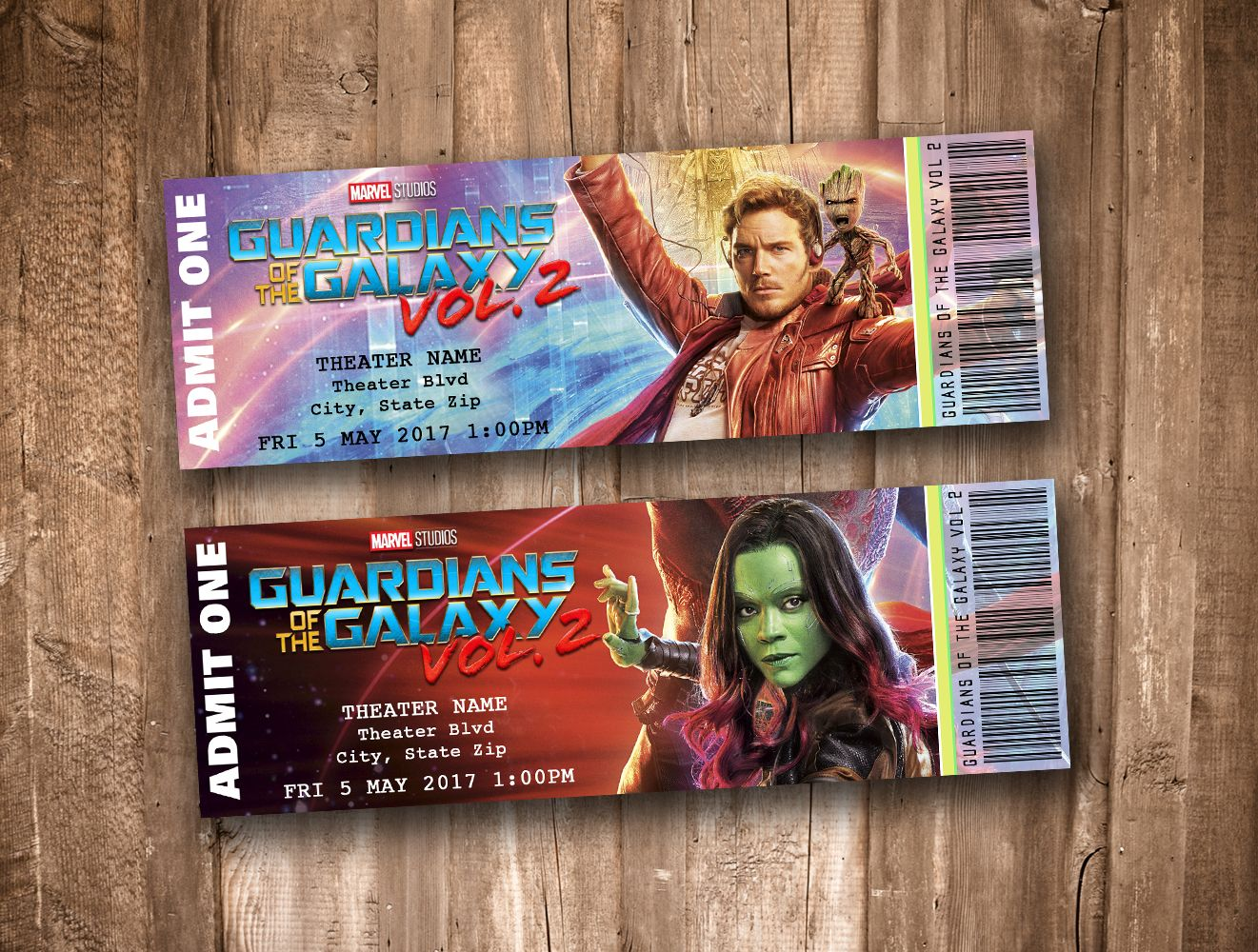Collectible Theater Tickets *Personalized Digital
