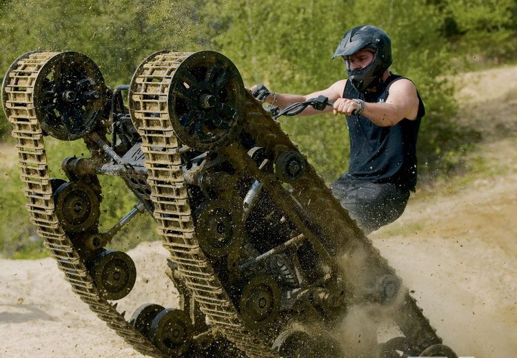All Terrain Vehicle With Tank Treads The Only Atv You