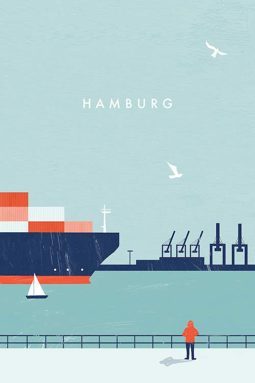 Hamburg Canvas Artwork by Katinka Reinke