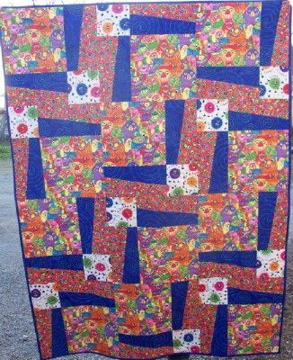 BQ3 quilt pattern, would be great for big prints   quilt patterns ... : quilt patterns for big prints - Adamdwight.com