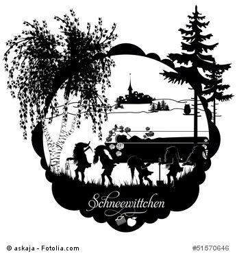 Schneewittchen Marchen Der Gebruder Grimm Schattenbilder Scherenschnitt Vorlagen Schneewittchen Marchen