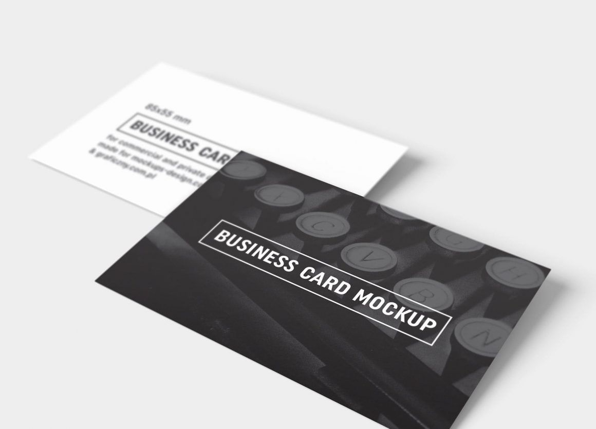 Free Black White Business Card Mockup Psd Templates Business Card Mock Up Business Cards Mockup Psd Free Business Card Mockup