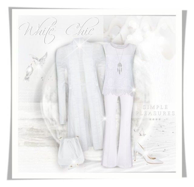 """All White Chic Fashions"" by helenehrenhofer ❤ liked on Polyvore featuring Daniella Lehavi, Phase Eight, Edun, Diane Von Furstenberg, Jimmy Choo, Lumière, Lucky Brand, Summer, white and summer2016"
