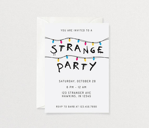 Stranger Things Party Invitation Customized Printable
