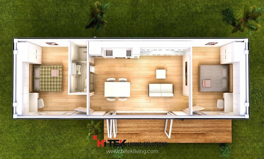 Granny flats 2 bedroom san marino modular home granny for Two bedroom tiny home