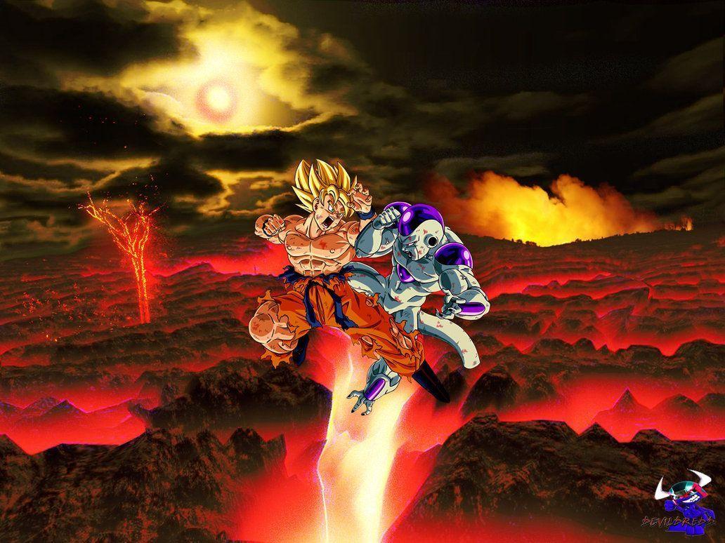SSJ Goku Vs Frieza Wallpaper By XXZiCEXx On DeviantArt