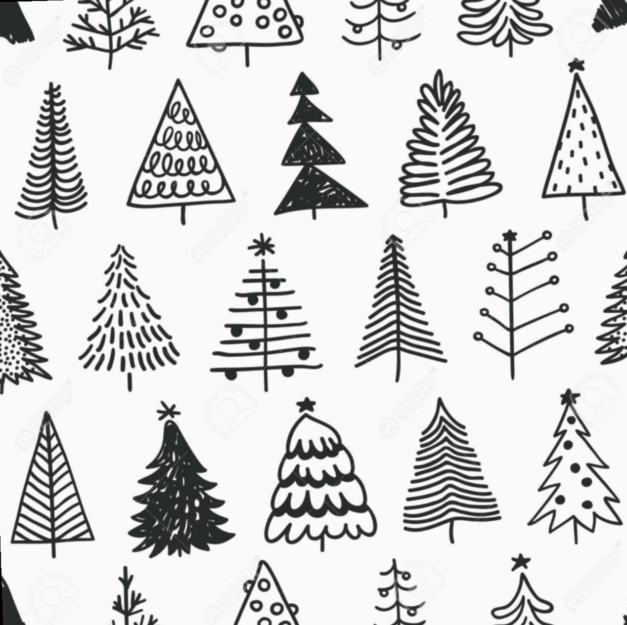 Drawing Doodles Simple Hand Drawn Eyesdraw Eyedrawing Eyesketch Christmas Tree Drawing Tree Doodle Christmas Doodles