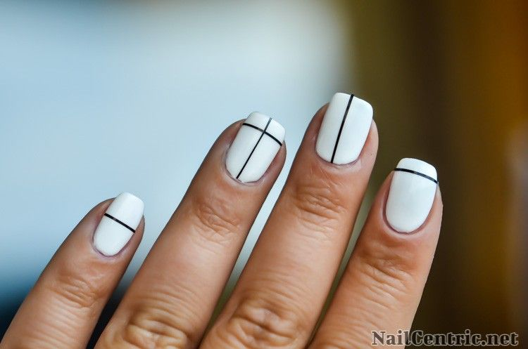 Black and white nail art with striping tape monochrome nail art black and white nail art with striping tape prinsesfo Image collections