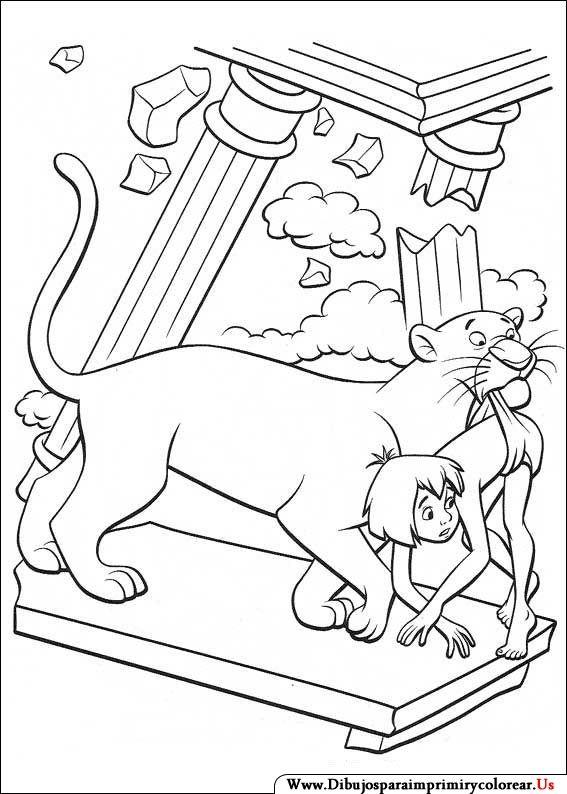 Dibujos de El libro de la Selva para Imprimir y colorear | INDIA ...