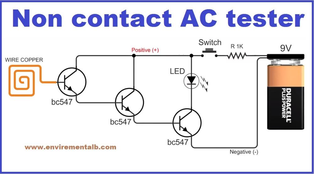 Diy Non Contact Voltage Detector Electronics Projects Diy