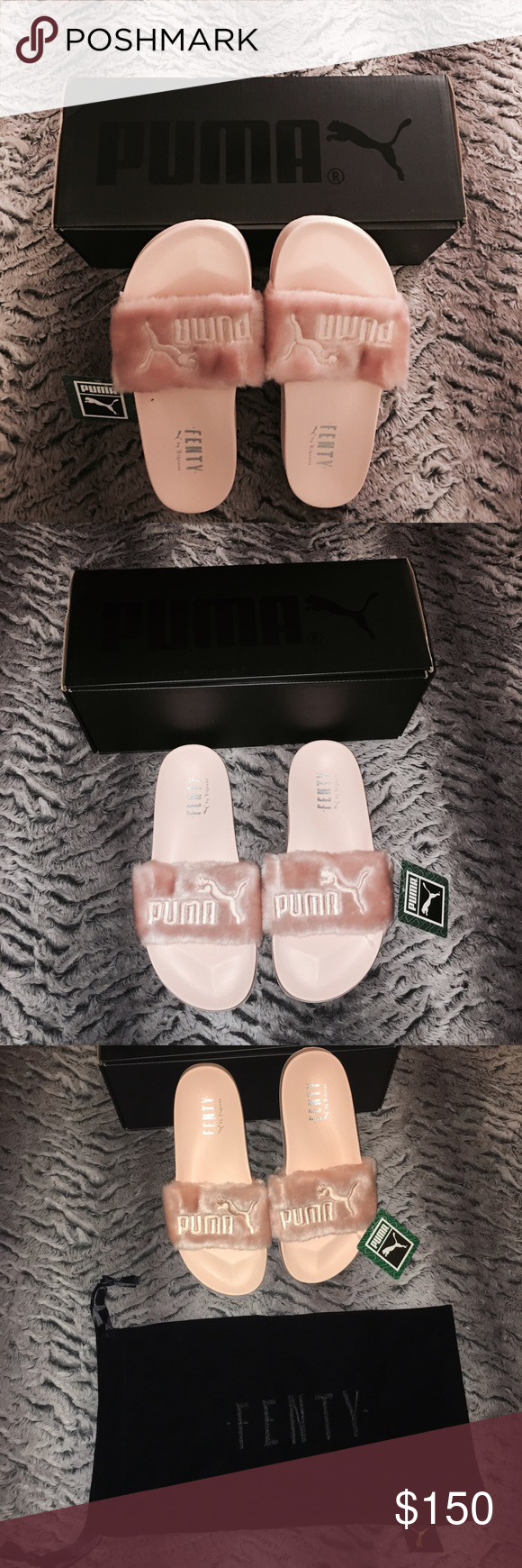 5df6dbbfd701f3 Rihanna X Fenty puma flip flop sizes 7