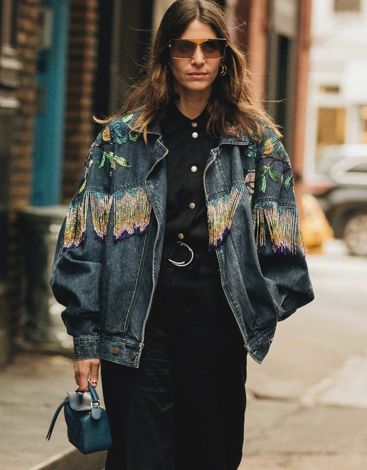 2020 Fall New Shows.Street Style 12 Denim Trends Spotted Outside The Fall