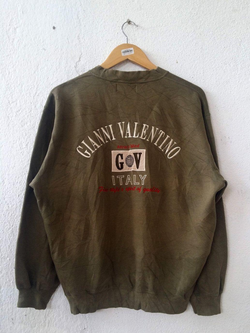 bad5c5c28d8e4 Vintage 90's GIANNI VALENTINO Moda Italiano Sweatshirt With Big ...