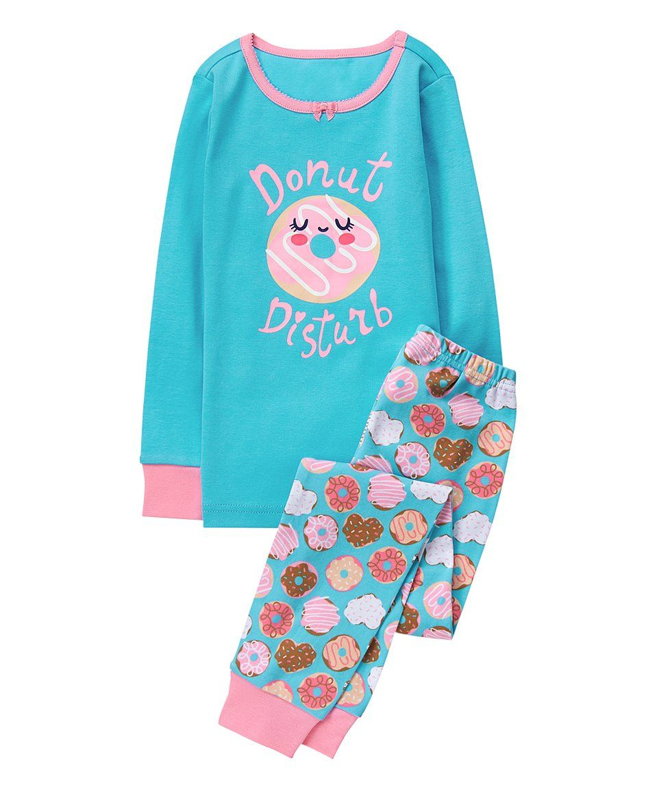 ac66351ac Take a look at this Turquoise  Donut Disturb  Pajama Set - Infant ...