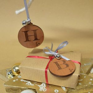 Initial Letter Decoration With Jingle Bell - finishing touches
