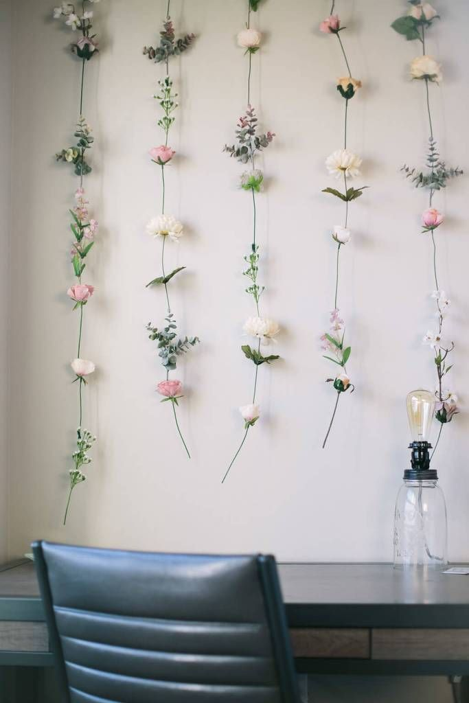 DIY Flower Wall   Diy flower wall, Aesthetic bedroom ...