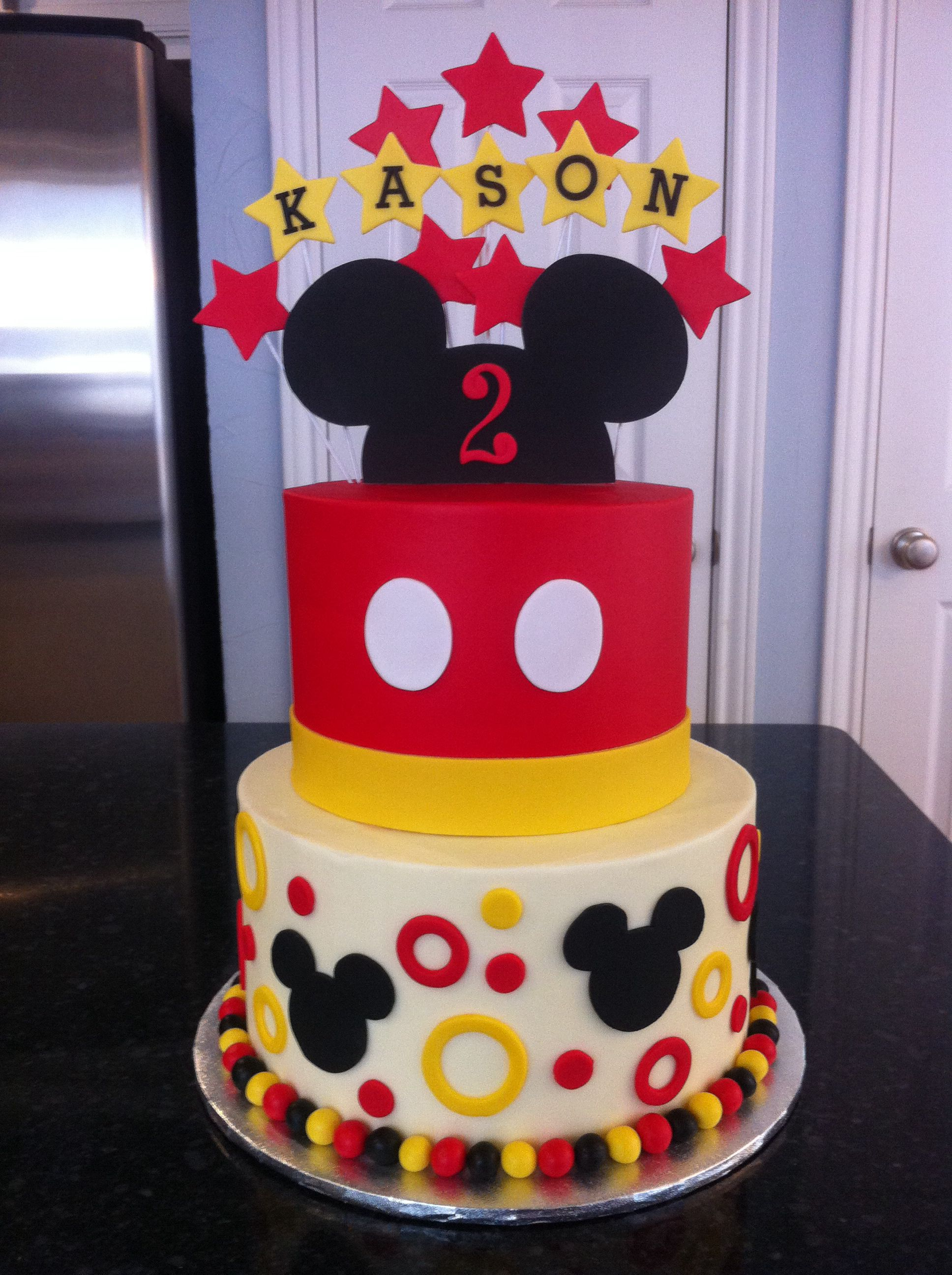 Mickey With Images Mickey Mouse Birthday Cake Mickey 1st