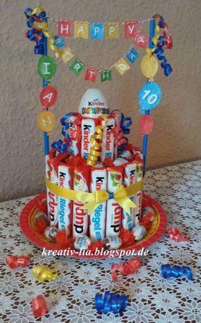 Hallo Zusammen        Für einen Kindergeburtstag habe ich eine weitere   K inder -Riegel-Torte gewerkel... #kinogutscheinbasteln