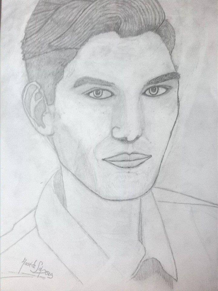 Un Retrato Dibujado A Mi Mismo Dibujo By Jose De Lapeza 2015 Art Male Sketch Male