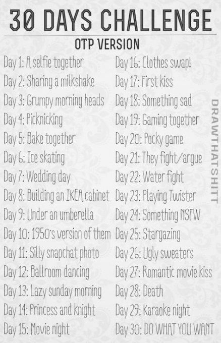 New Drawing Challenge 30 Day Month Ideas