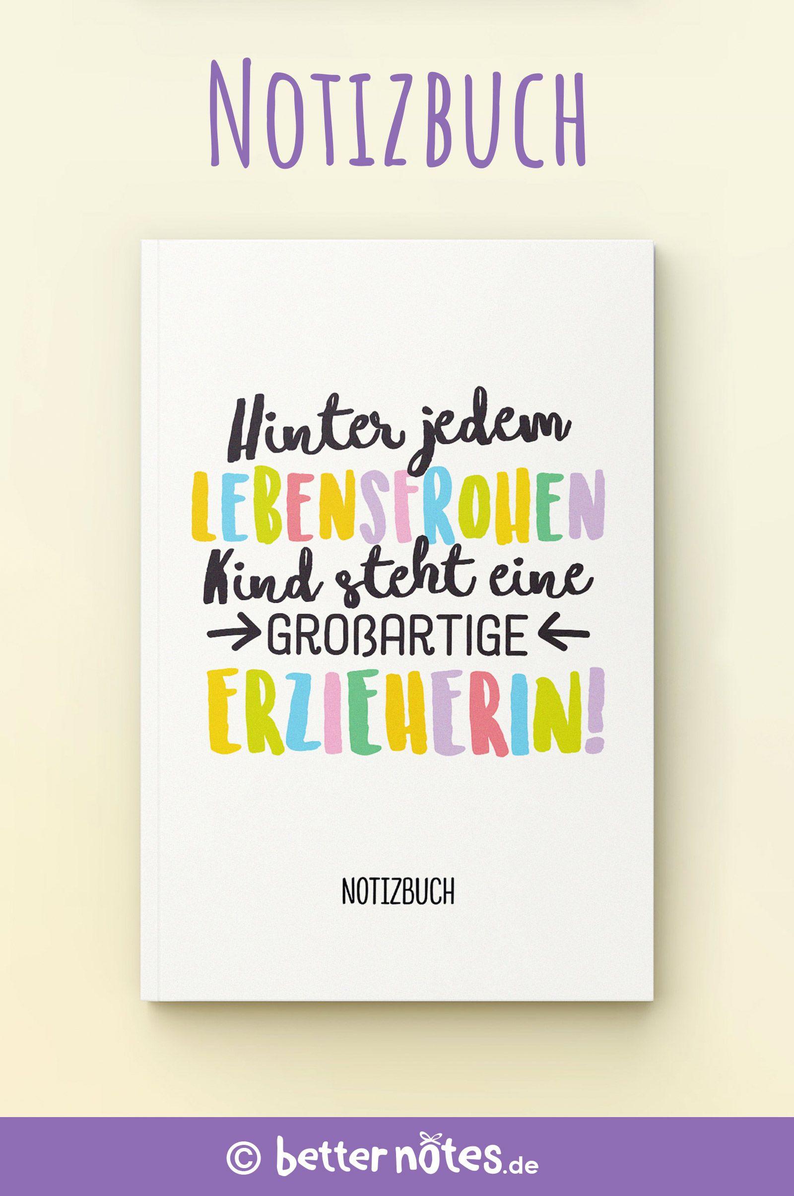 Hinter jedem lebensfrohen Kind steht eine großartige Erzieherin -  Schönes Notizbuch als Geschenk für Erzieherin | Abschiedsgeschenke für Erzieherinnen | Zum Kita Abschied, Weihnachten oder Geburtstag - #abschiedsgeschenk #kindergarten #erzieherin #abschiedsgeschenkerzieherin