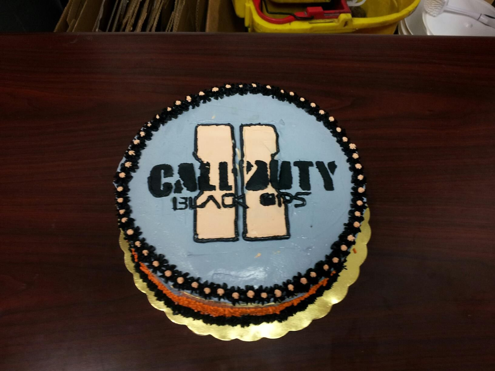 Call of Duty Black Ops 2 ice cream Cake Call duty black ops