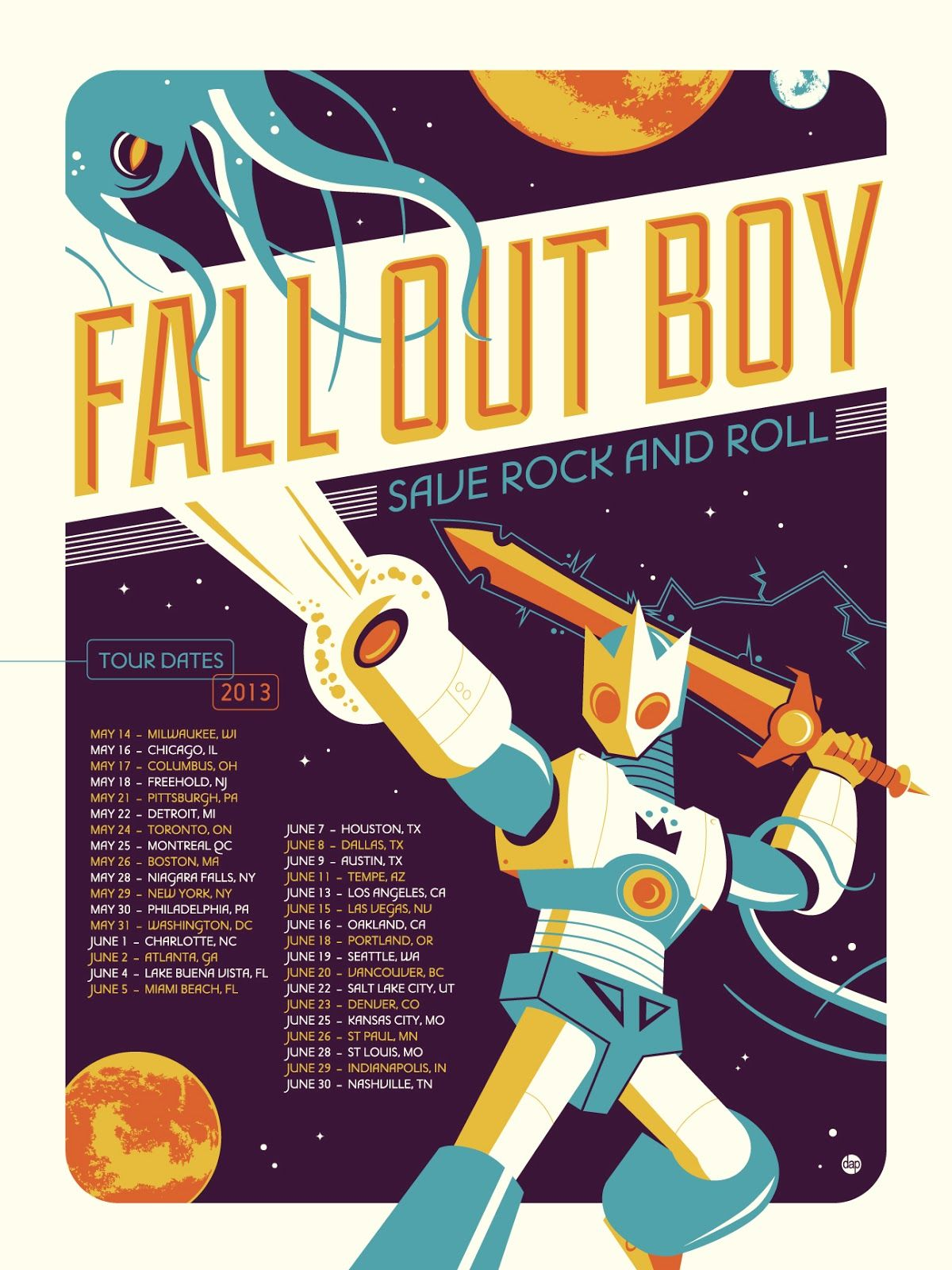 This Is A Very Cool Example Of Concert Posters As Art. You