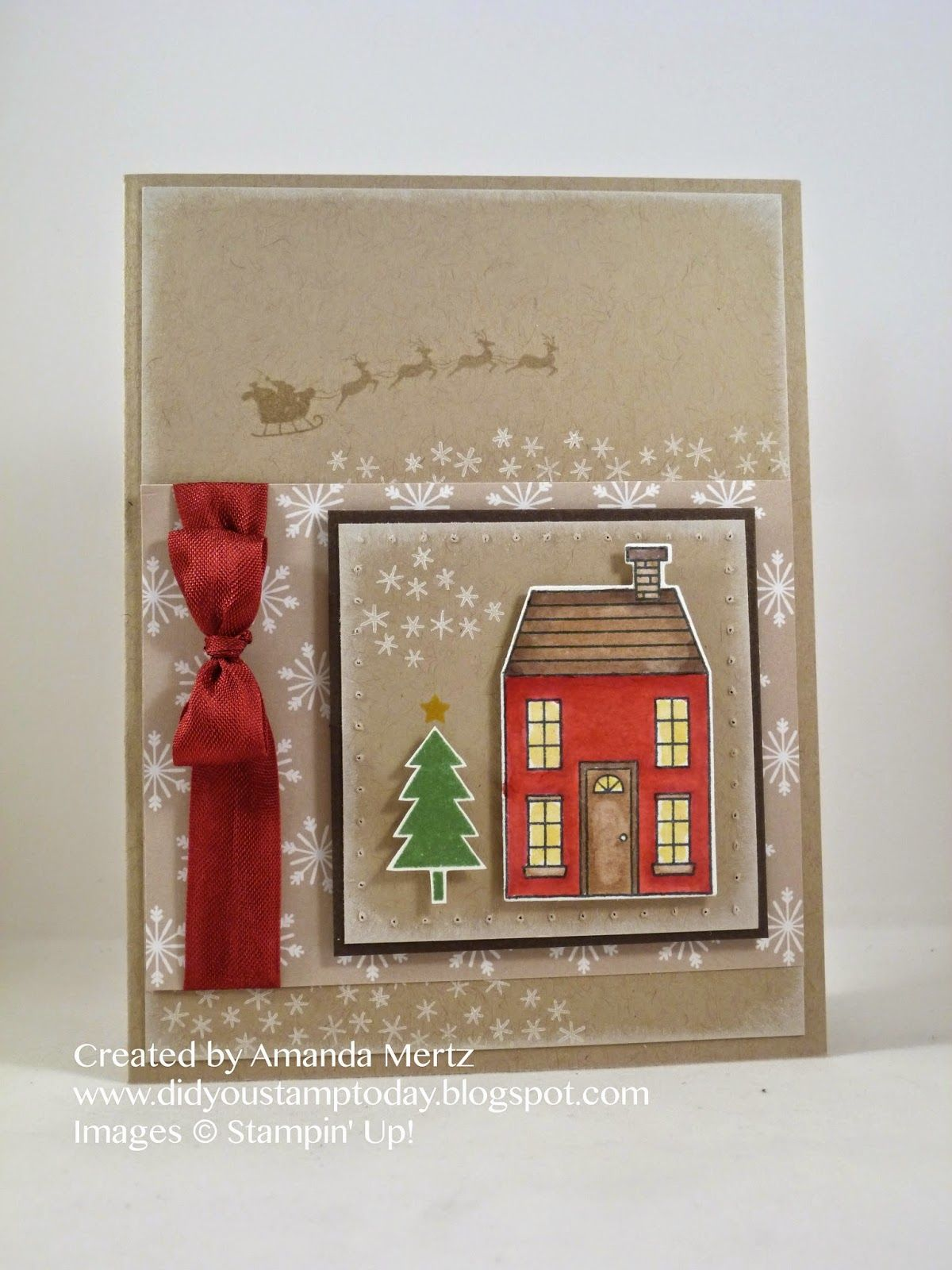 Did You Stamp Today?: Cozy Christmas House - Fab Friday 53 #holidayhome #2014holidaycatalog