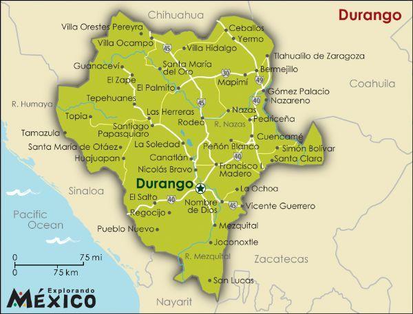 state of durango mexico map Durango Officially Victoria De Durango And Also Known As Ciudad