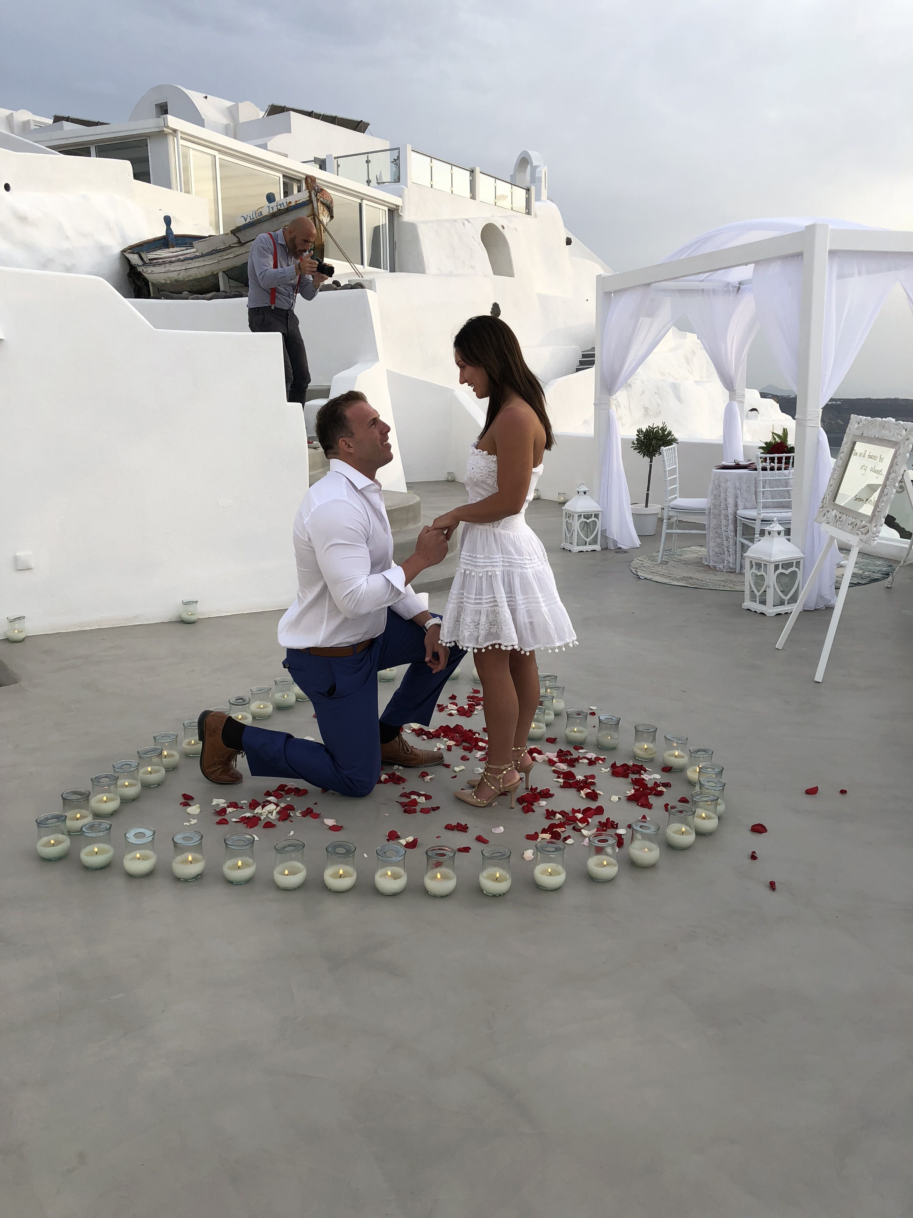 I Said Yes Spectacular Wedding Proposal In Santorini Greece