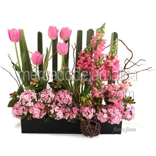 Arreglo Floral Con Tulipanes Para Mama Arreglos Florales