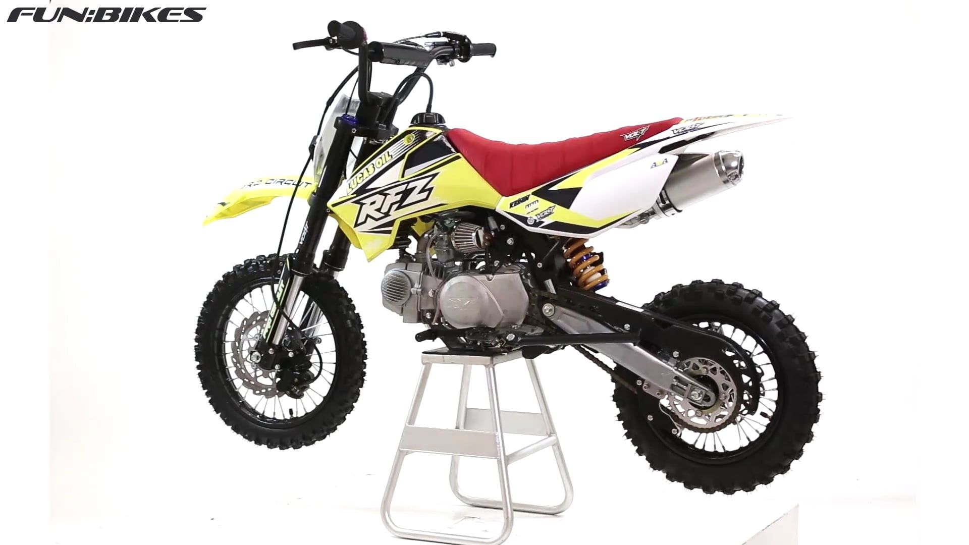 M2r racing rfz140 140cc 76cm yellow pit bike