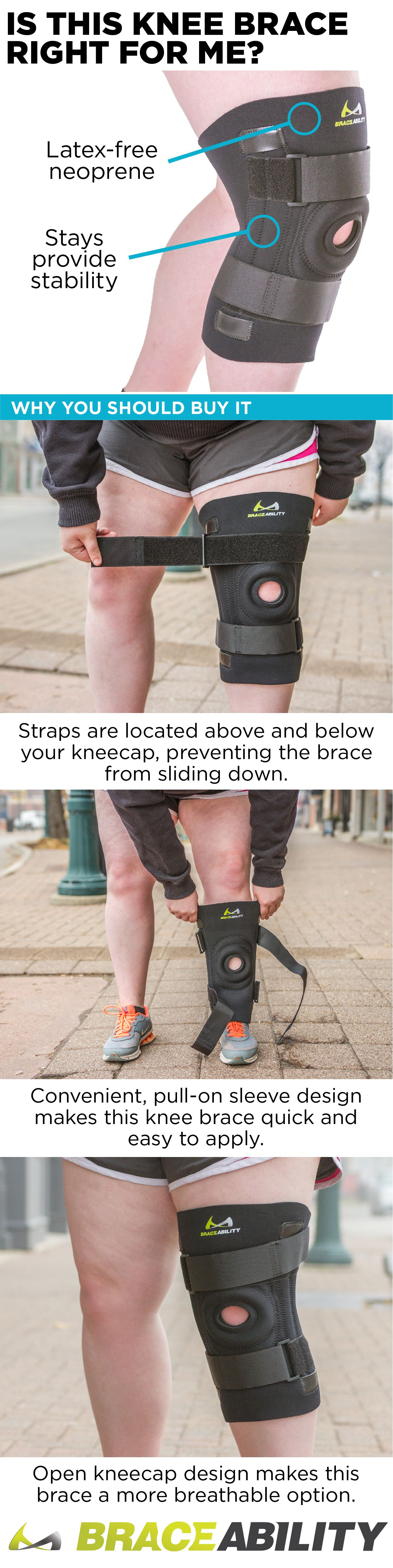 b21c819957 This knee brace for overweight or obese people with big legs and thighs has  an easy, slip-on design and is comfortable to wear all day.