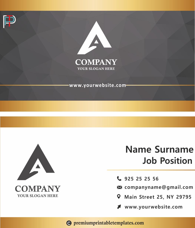 Business Card Template Printable Premium Printable Templates Business Card Template Card Templates Printable Card Template