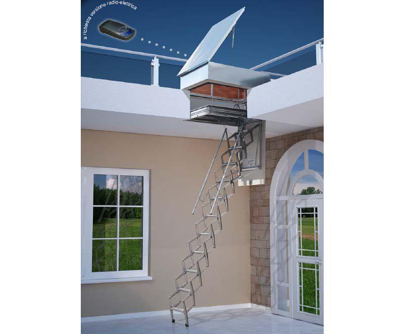 Escaleras para claraboyas buscar con google terrazas - Escaleras metalicas plegables ...