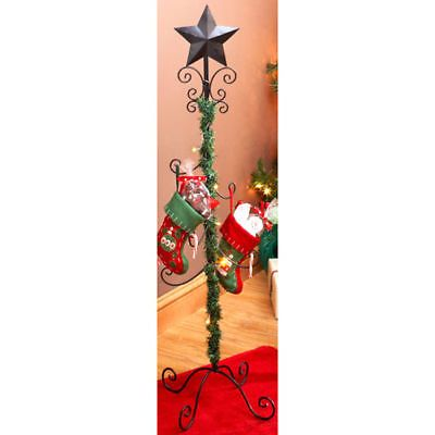 High Quality Christmas Stocking Tree Stand Hanger | LIGHTED GARLAND CHRISTMAS STAND  STOCKING HOLDER HANGER For Sale