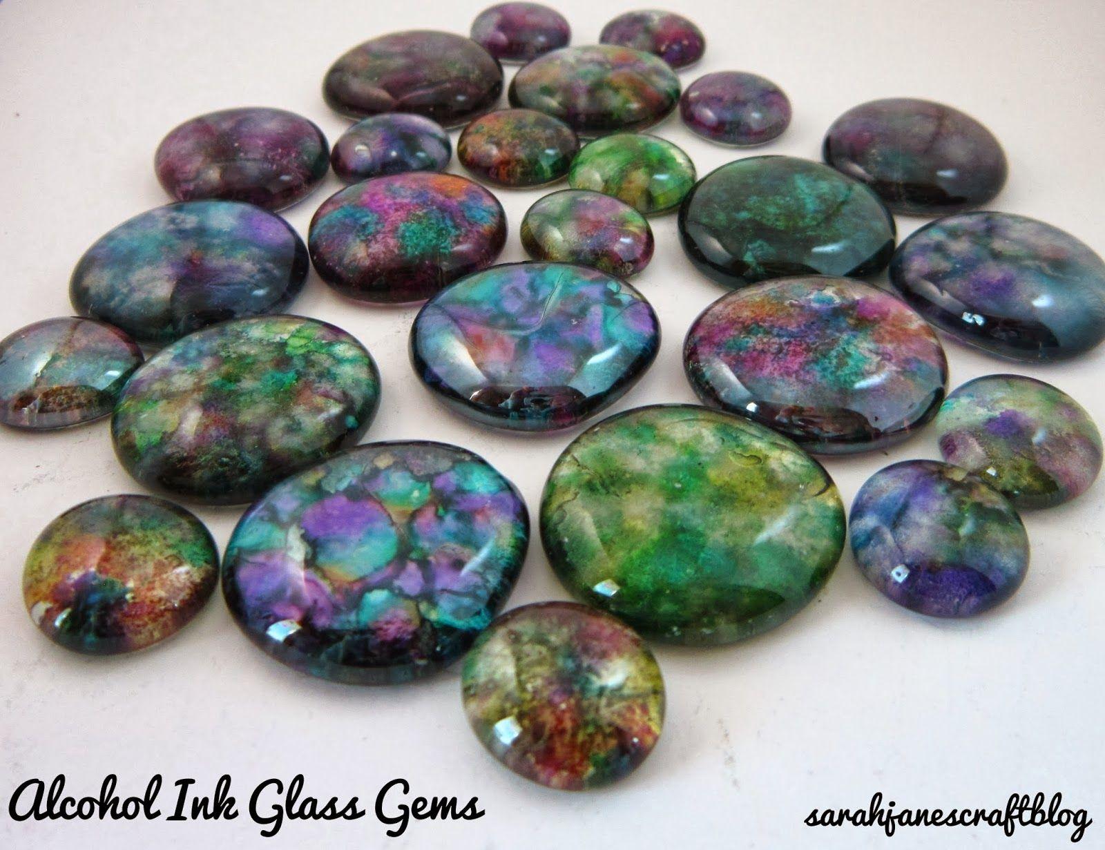 Alcohol Ink Glass Gems
