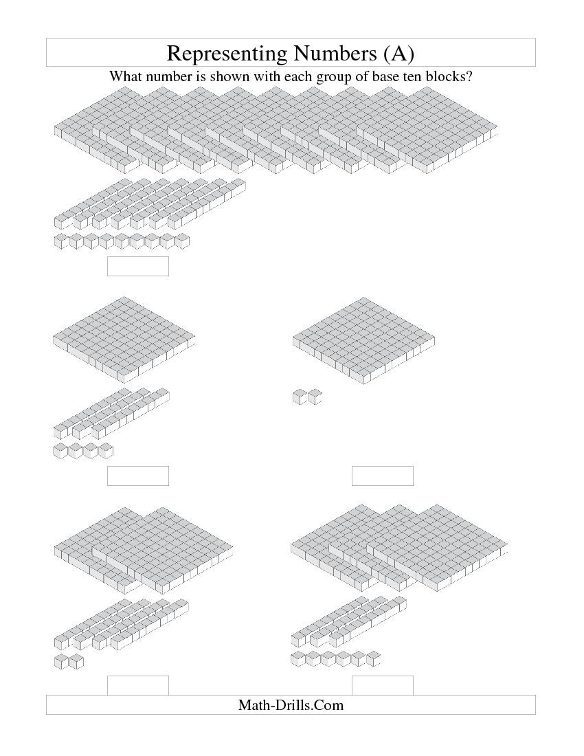 Representing Numbers -- Units [ 1100 x 850 Pixel ]