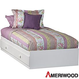 99 ameriwood captains beds at big lots i plan on adding beadboard wall paper to the ends and. Black Bedroom Furniture Sets. Home Design Ideas