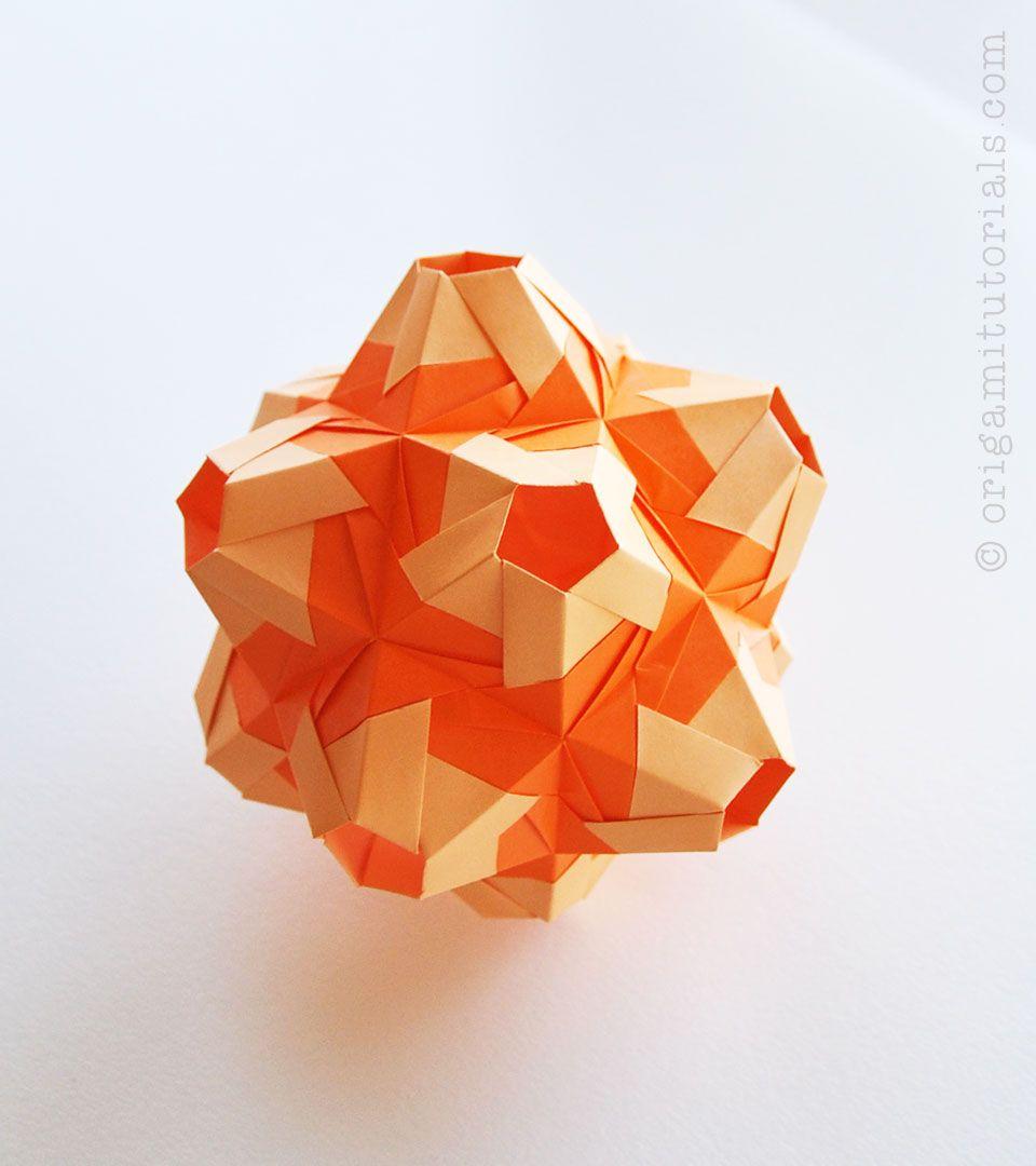 Fiesta Kusudama Tutorial Origami Tutorials Origami Tutorial Origami Modular Origami