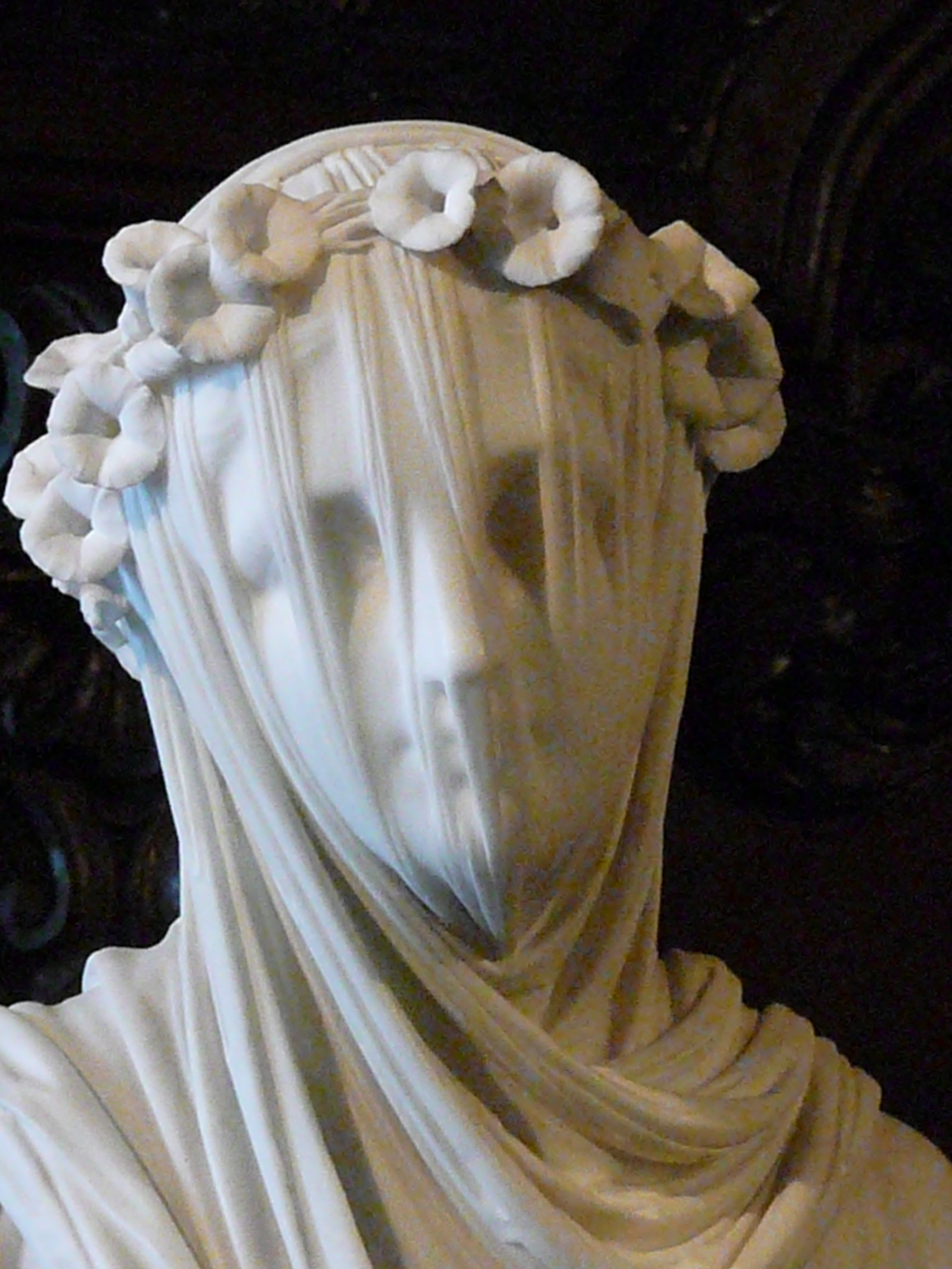 The Veiled Vestal Virgin Made From Marble By The Sculptor