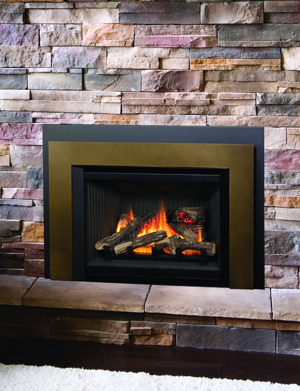 cast sutter valor series hearth fireplace horizon inserts product traditional clearview home