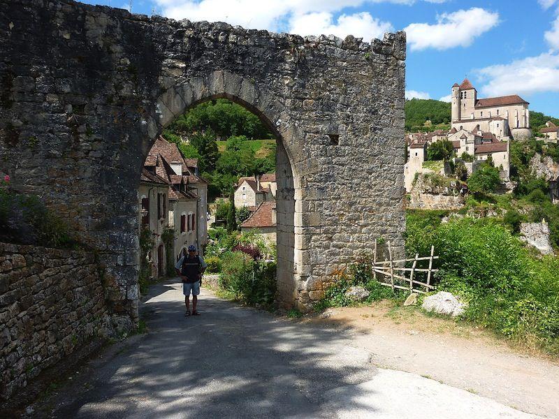 St-Cirq Lapopie  (Lot) - ancienne  Porte d'Entrée du village