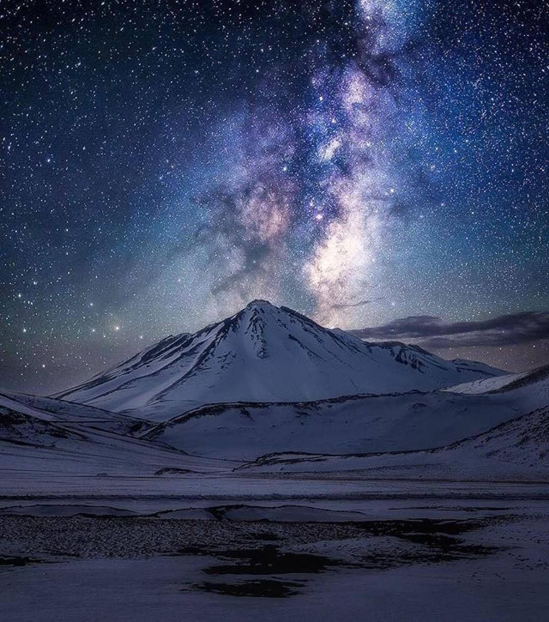 A Beautiful Night Of Starfire And Ice Photo By Photography By Ko Best Landscape Photography Beautiful Night Sky Night Sky Painting